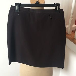 Dark brown short skirt by limited stretch
